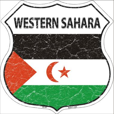 WESTERN Sahara Country Flag Highway Shield Wholesale Metal Sign HS-457