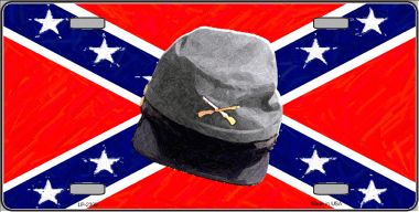 Confederate ARMY CAP Wholesale Metal Novelty License Plate LP-2399