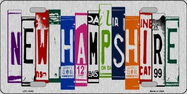 NEW Hamphsire License Plate Art Brushed Aluminum Wholesale Metal Novelty License Plate LPC-1043