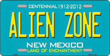 Alien Zone NEW Mexico State Novelty Wholesale Metal License Plate LP-6671