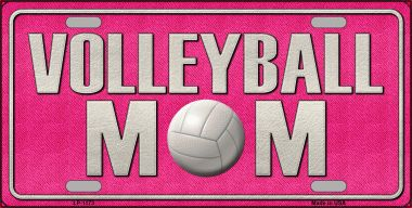 VOLLEYBALL Mom Novelty Wholesale Metal License Plate LP-1173