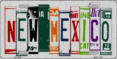 NEW Mexico License Plate Art Brushed Aluminum Wholesale Metal Novelty License Plate LPC-1045