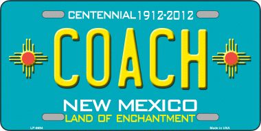 Coach NEW Mexico Novelty Wholesale Metal License Plate LP-6694