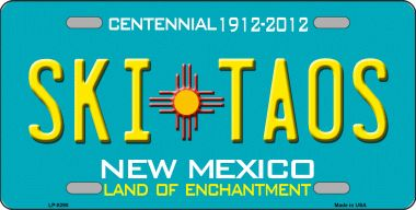 Ski Taos Teal NEW Mexico Novelty Wholesale License Plate LP-8290