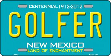 Golfer NEW Mexico Novelty Wholesale Metal License Plate LP-6677