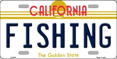 FISHING California Novelty Wholesale Metal License Plate LP-6842