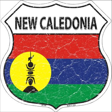NEW Caledonia Country Flag Highway Shield Wholesale Metal Sign HS-349