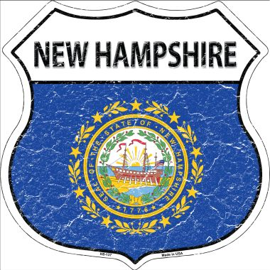 NEW Hampshire State Flag Highway Shield Wholesale Metal Sign HS-137