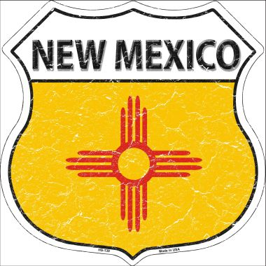 NEW Mexico State Flag Highway Shield Wholesale Metal Sign HS-139