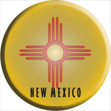 NEW Mexico State Flag Wholesale Metal Circular Sign C-130