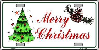 Merry CHRISTMAS Wholesale Metal Novelty License Plate LP-5144