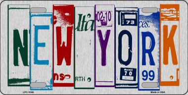 NEW York License Plate Art Brushed Aluminum Wholesale Metal Novelty License Plate LPC-1046