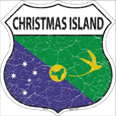 CHRISTMAS Island Country Flag Highway Shield Wholesale Metal Sign HS-214