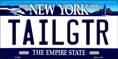 Tailgtr NEW York Novelty Wholesale Metal License Plate LP-3684