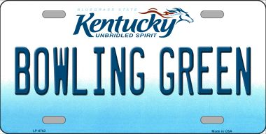 BOWLING Green Kentucky Novelty Wholesale Metal License Plate LP-6763