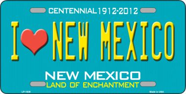I Love NEW Mexico Novelty Wholesale Metal License Plate LP-1538