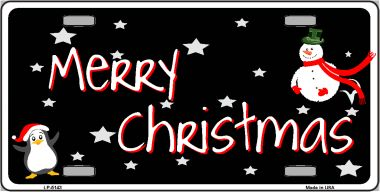 Merry CHRISTMAS Wholesale Metal Novelty License Plate LP-5143