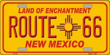 Route 66 NEW Mexico Novelty Wholesale Metal License Plate LP-103