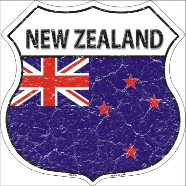 NEW Zealand Country Flag Highway Shield Wholesale Metal Sign HS-350