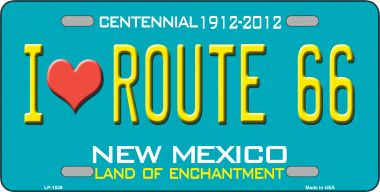 I Love Route 66 NEW Mexico Novelty Wholesale Metal License Plate LP-1539