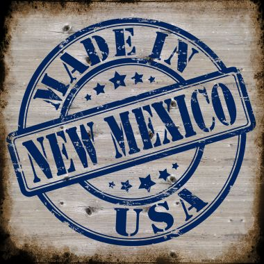 NEW Mexico Stamp On Wood Wholesale Novelty Metal Square Sign SQ-136