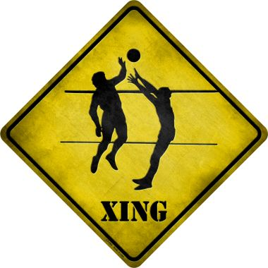 VOLLEYBALL Xing Wholesale Novelty Metal Crossing Sign CX-089