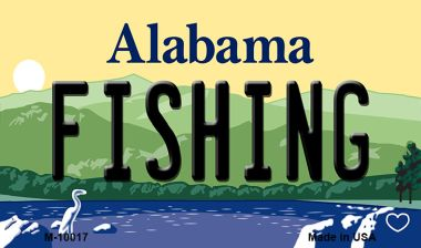 FISHING Alabama State Magnet Novelty Wholesale M-10017