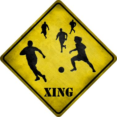 SOCCER Xing Wholesale Novelty Metal Crossing Sign CX-103