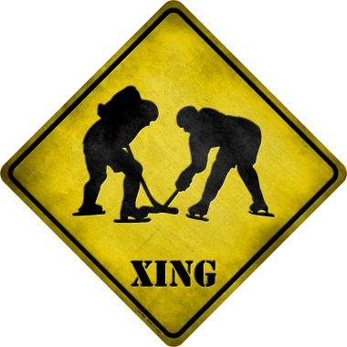 HOCKEY Xing Wholesale Novelty Metal Crossing Sign CX-086