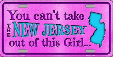 NEW Jersey Girl Novelty Wholesale Metal License Plate LP-9821
