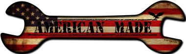 American Made Wholesale Novelty Metal WRENCH Sign W-059